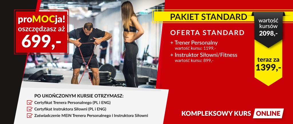 Kurs Trenera Personalnego + Instruktor Siłowni/Fitness
